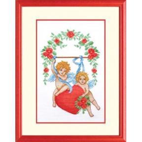 Набор для вышивки крестом Повитруля П2 002 Влюбленные амуры фото