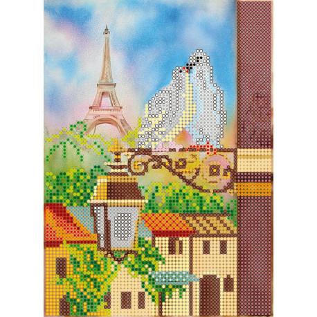 Схема для вышивания бисером Абрис Арт АС-037 Весна в Париже фото