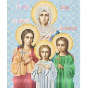 Рисунок на ткани Повитруля Б3 018 Св. мученицы Вера Надежда