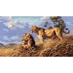 Набор для вышивки крестом Dimensions 03866 African Lions