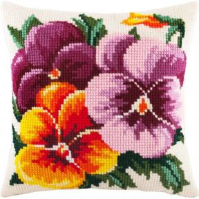 Набор для вышивки подушки Чарівниця Z-03 Фиалки фото