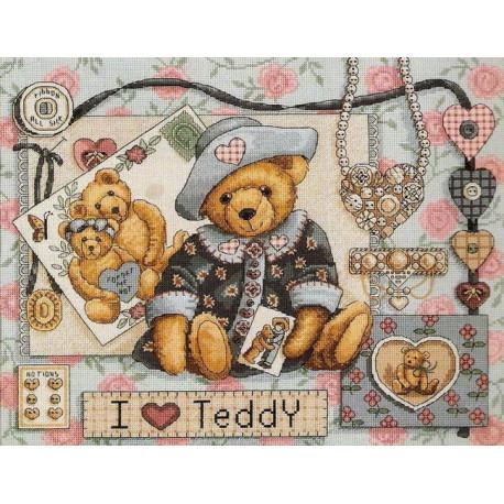 Набор для вышивания крестом Classic Design 4350 Я люблю Тедди