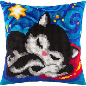 Набор для вышивки подушки Чарівниця Z-04 Кошачьи сны фото