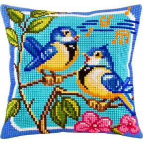 Набор для вышивки подушки Чарівниця Z-06 Птичьи трели фото