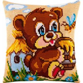 Набор для вышивки подушки Чарівниця Z-07 Мишка - сладкоежка фото