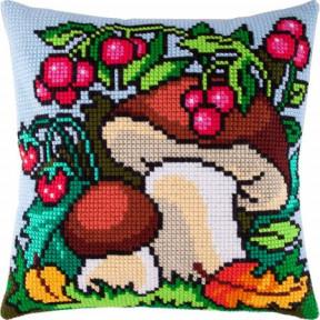Набор для вышивки подушки Чарівниця Z-10 Грибная опушка фото