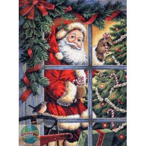 Набор для вышивания Dimensions 08734 Candy Cane Santa