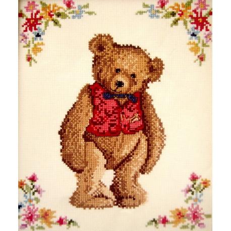 Набор для вышивания крестом Classic Design Мистер Тедди 4349
