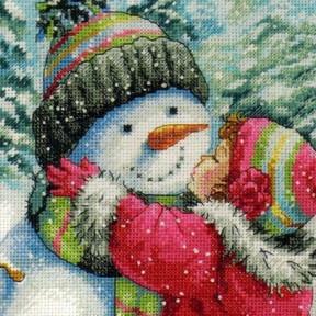 Набор для вышивания Dimensions 70-08833 A Kiss for Snowman