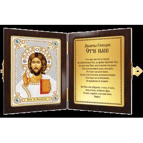 Набор с рамкой-складнем для вышивания бисером Новая Слобода СМ7001 Христос Спаситель