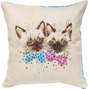 Набор для вышивки подушки Luca-S PB138 Котята