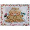 Набор для вышивания открытки бисером Butterfly 734 Ангелочки на