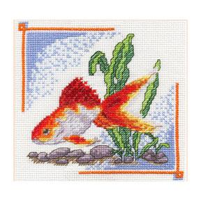 Набор для вышивки крестом Panna Д-0190 Золотая рыбка