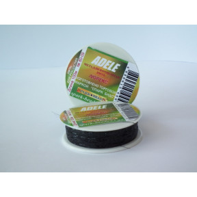 Металлизированная нить плоская Люрекс Адель 80-02 черная 100м