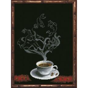 Набор для вышивания крестиком КиТ 70413 Кофейная Фантазия -