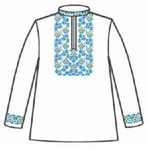Сорочка под вышивку для мальчика с длинным рукавом 153-12-09-42