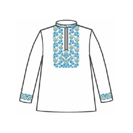 Сорочка под вышивку для мальчика с длинным рукавом 153-12-09-36