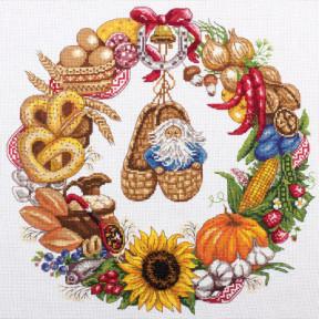 Набор для вышивки крестом Panna СО-1578 Венок изобилия