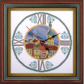 Набор для вышивки крестом Panna Ч-1580 Часы на старой ратуше