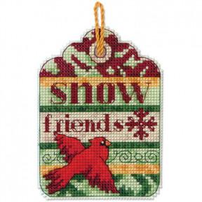 Набор для вышивания Dimensions 70-08890 Snow Friends Ornament