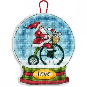 Набор для вышивания Dimensions 70-08903 Love Snowglobe Ornament
