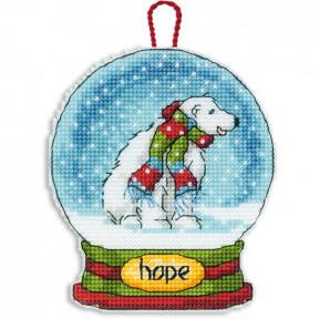 Набор для вышивания Dimensions 70-08906 Hope Snowglobe Ornament