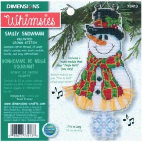Набор для вышивания Dimensions 73413 Smiley Snowman! фото