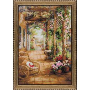 Набор для вышивки крестом Риолис 100/043 Свидание в саду фото