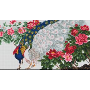 Набор для вышивки крестом Luca-S B462 Павлины в цветах